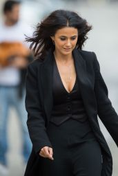Emmanuelle Chriqui - at Jimmy Kimmel Live in Hollywood, June 2015