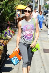Emmy Rossum in Leggings - Heading to a Yoga Class in Los Angeles, June 2015