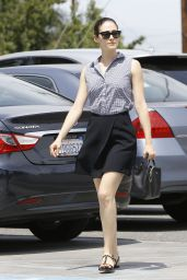 Emmy Rossum - Out Running Errands in Los Angeles, June 2015