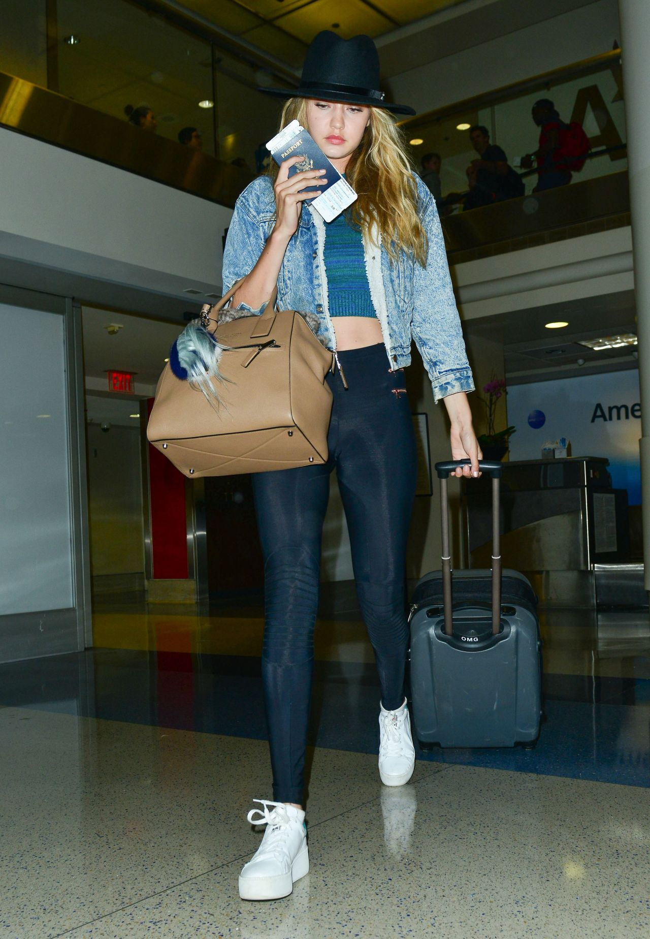 Gigi Hadid at LAX Airport, June 2015