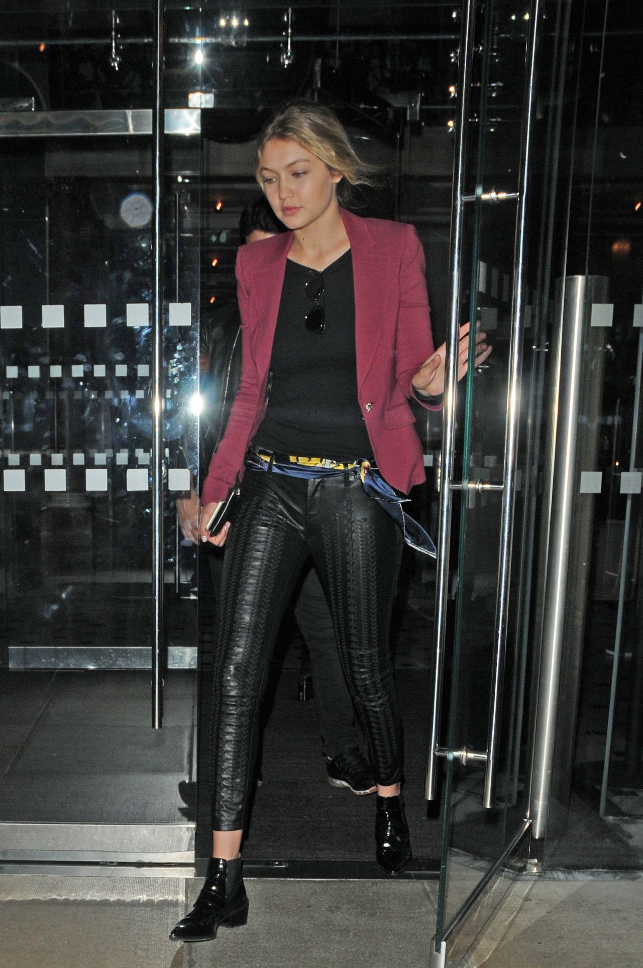 Gigi Hadid Style - Leaving Her Hotel in London, June 2015