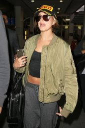 Hailey Baldwin Airport Style - Arriving in Sydney, June 2015