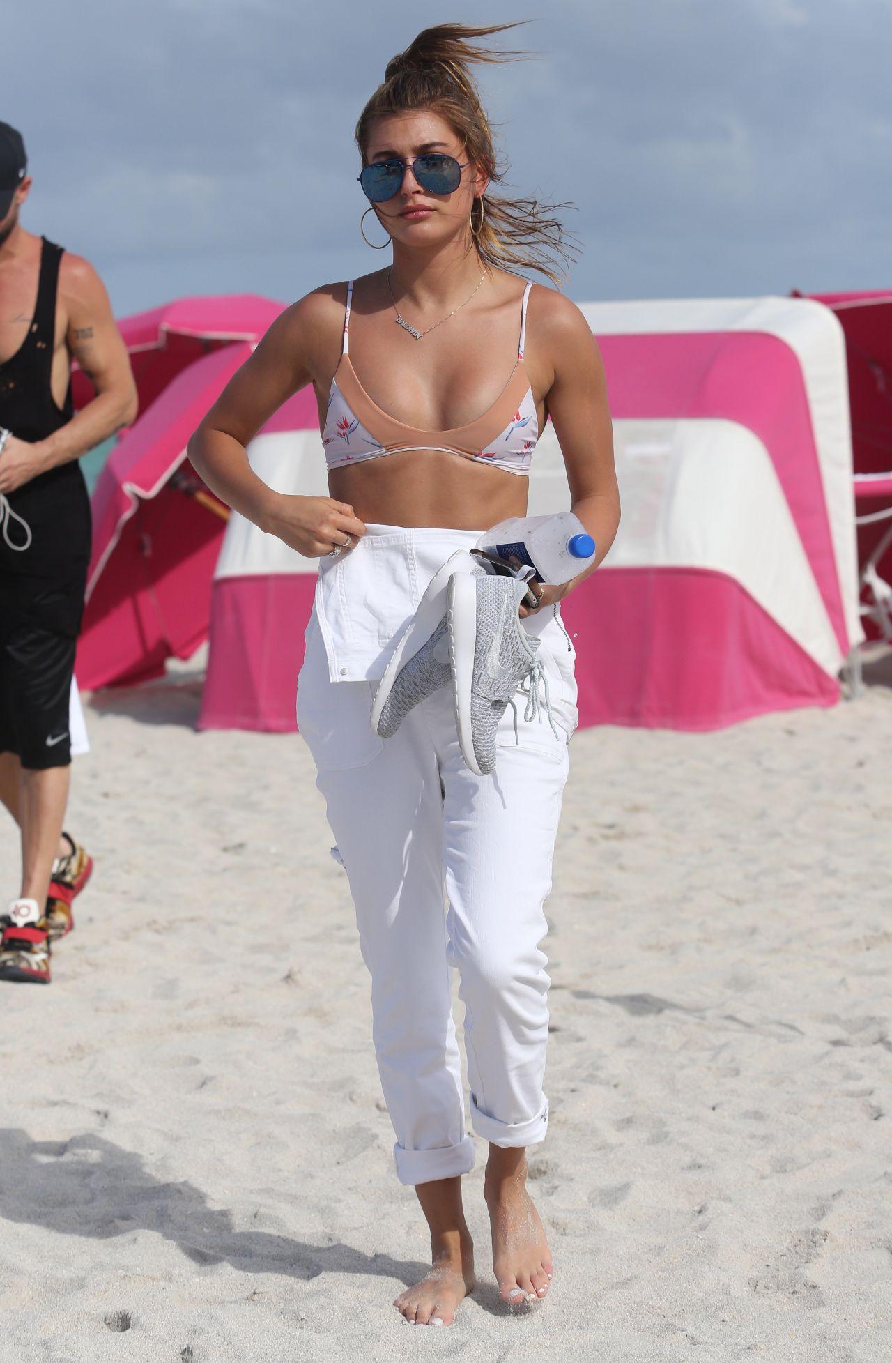Hailey Baldwin In A Bikini In Miami Beach June 2015