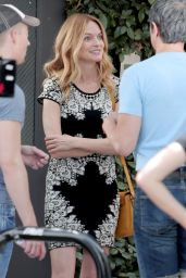 Heather Graham - on the set of