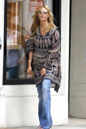 Heidi Klum Street Style - Shopping on Madison Avenue in New York, June 2015