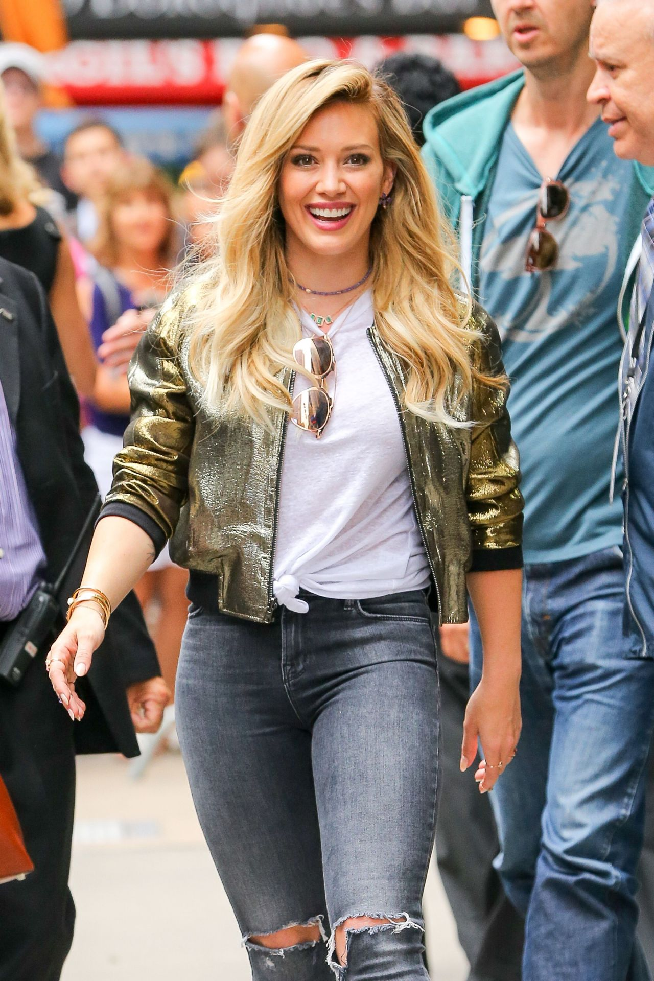 Hilary Duff At Gma In New York City June 2015