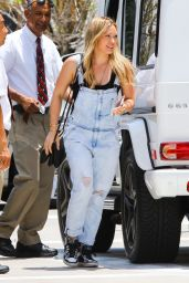 Hilary Duff in Jumpsuits Jeans - Out in Beverly Hills, June 2015