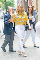 Hilary Duff in Ripped Jeans - NYC, June 2015