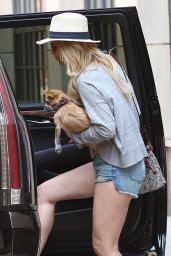 Jennifer Lawrence Leggy in Jeans Shorts - Out in New York City, June 2015
