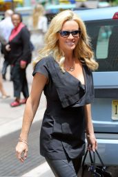 Jenny McCarthy - Leaving SiriusXM studios in NYC, June 2015