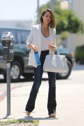 Jessica Alba Style - Out in West Hollywood, June 2015
