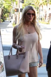 Jessica Simpson Street Style - Having Lunch in Beverly Hills, June 2015