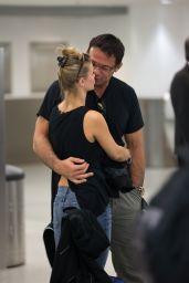Joanna Krupa at Miami Airport with Husband, June 2015