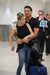 Joanna Krupa at Miami Airport with Husband, June 2015