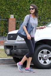Jordana Brewster in Leggings - Heads to the Gym in LA, June 2015