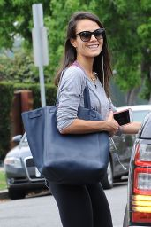 Jordana Brewster in Leggings - Heads to the Gym in LA, June 2015