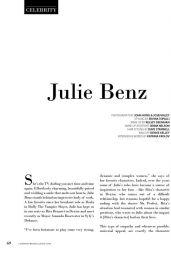 Julie Benz - Composure Magazine Issue #4 (2015)