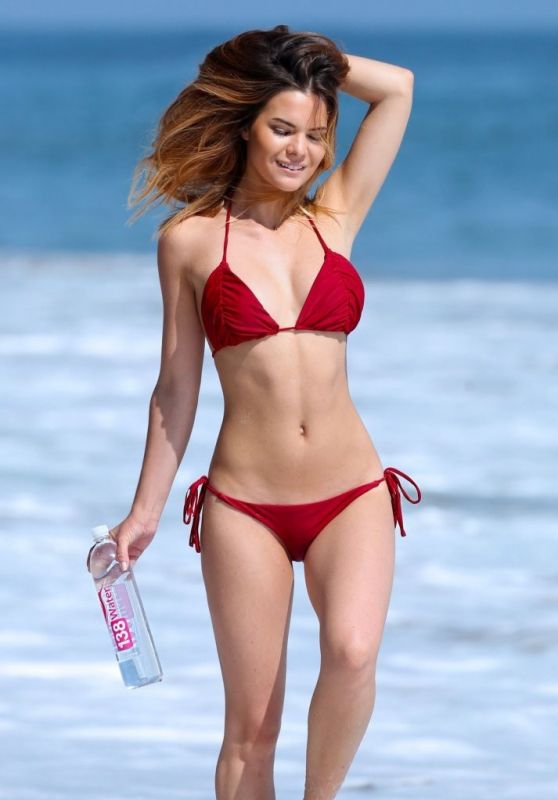 Kaili Thorne in a Red BIkini - 138 Water Photoshoot in Malibu, June 2015