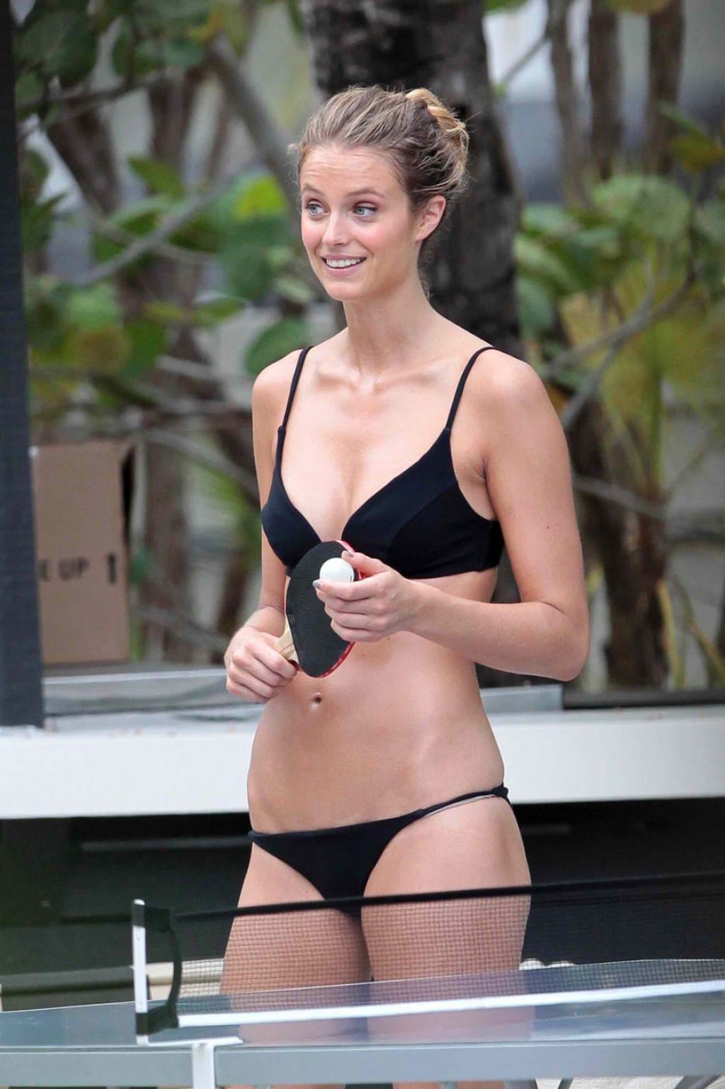 Kate Bock Bikini Candids - Miami - June 2015