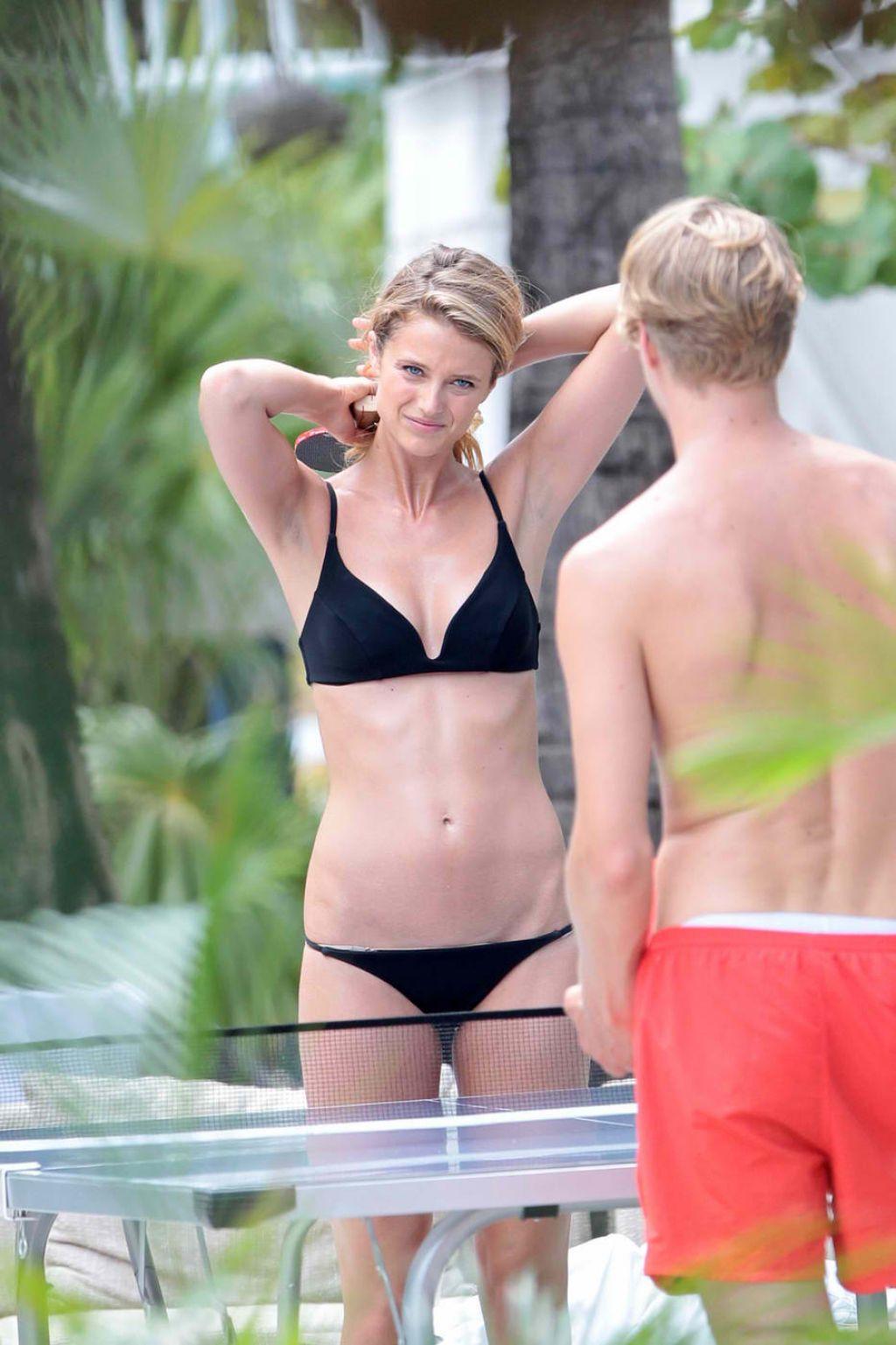 Kate Bock Bikini Candids Miami June 2015