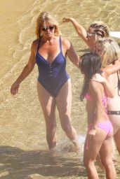 Kate Hudson, Goldie Hawn and Friends - Beach Bikinis in Greece - June 2015