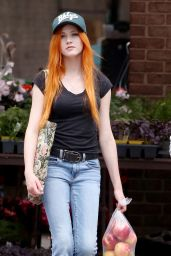 Katherine McNamara Street Style - Out in Toronto, May 2015