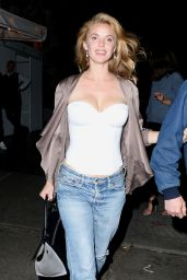 Kelli Garner Night Out Style - at the Chateau Marmont in West Hollywood, June 2015