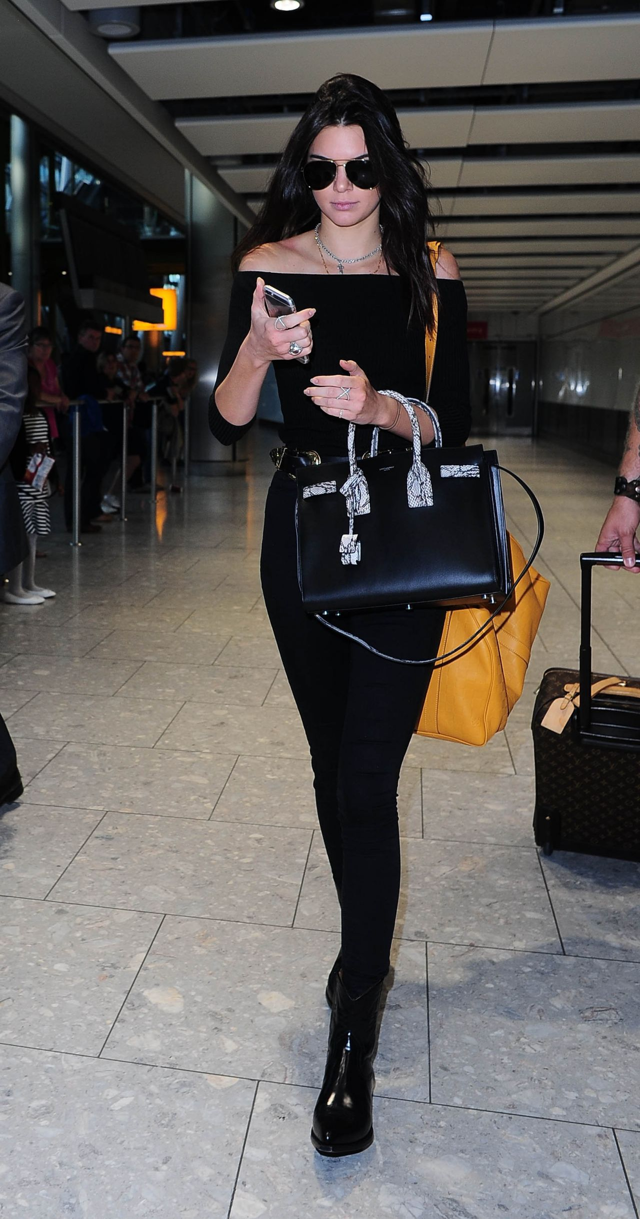 Kendall Jenner Airport Style London Heathrow Airport