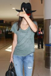 Kendall Jenner in Tight Jeans at LAX AIrport, June 2015