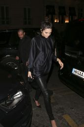 Kendall Jenner Style - Leaving Kinu Japanese Restaurant in Paris, June 2015