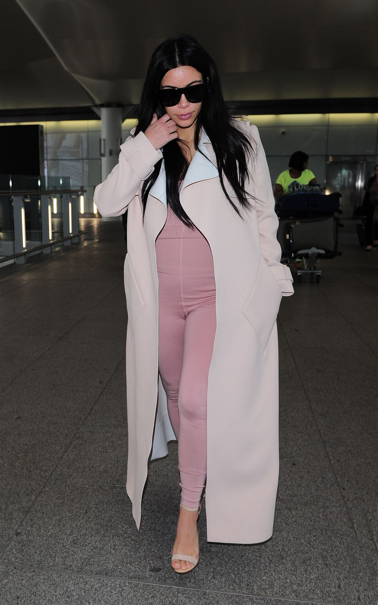 Kim Kardashian Airport Style Heathrow In London June 2015