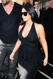 Kim Kardashian - Leaving the Dorchester Hotel in London, June 2015