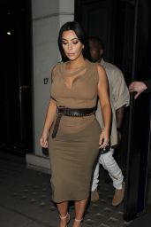 Kim Kardashian Night Out Style - at Hakkasan, June 2015