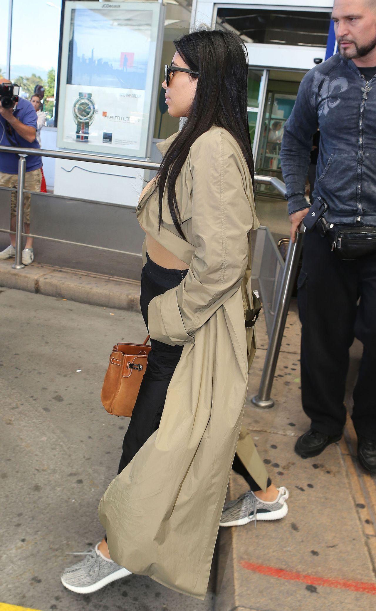 kim kardashian summer airport style nice france june 2015
