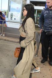 Kim Kardashian Summer Airport Style - Nice, France, June 2015
