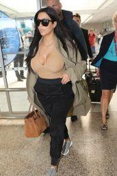 Kim Kardashian Summer Airport Style - Nice, France, June 2015
