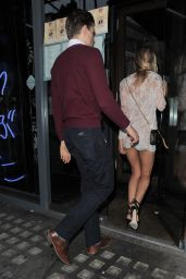 Kimberley Garner Leggy in Mini Dress at Kings Road Restaurant in London, June 2015