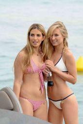 Kimberley Garner on a Boat in a Bikini in Cannes, May 2015