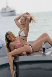 Kimberley Garner on a Boat in a Bikini in Cannes, May 2015