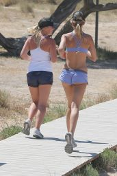 Kimberley Garner - Working out in Ibiza, June 2015
