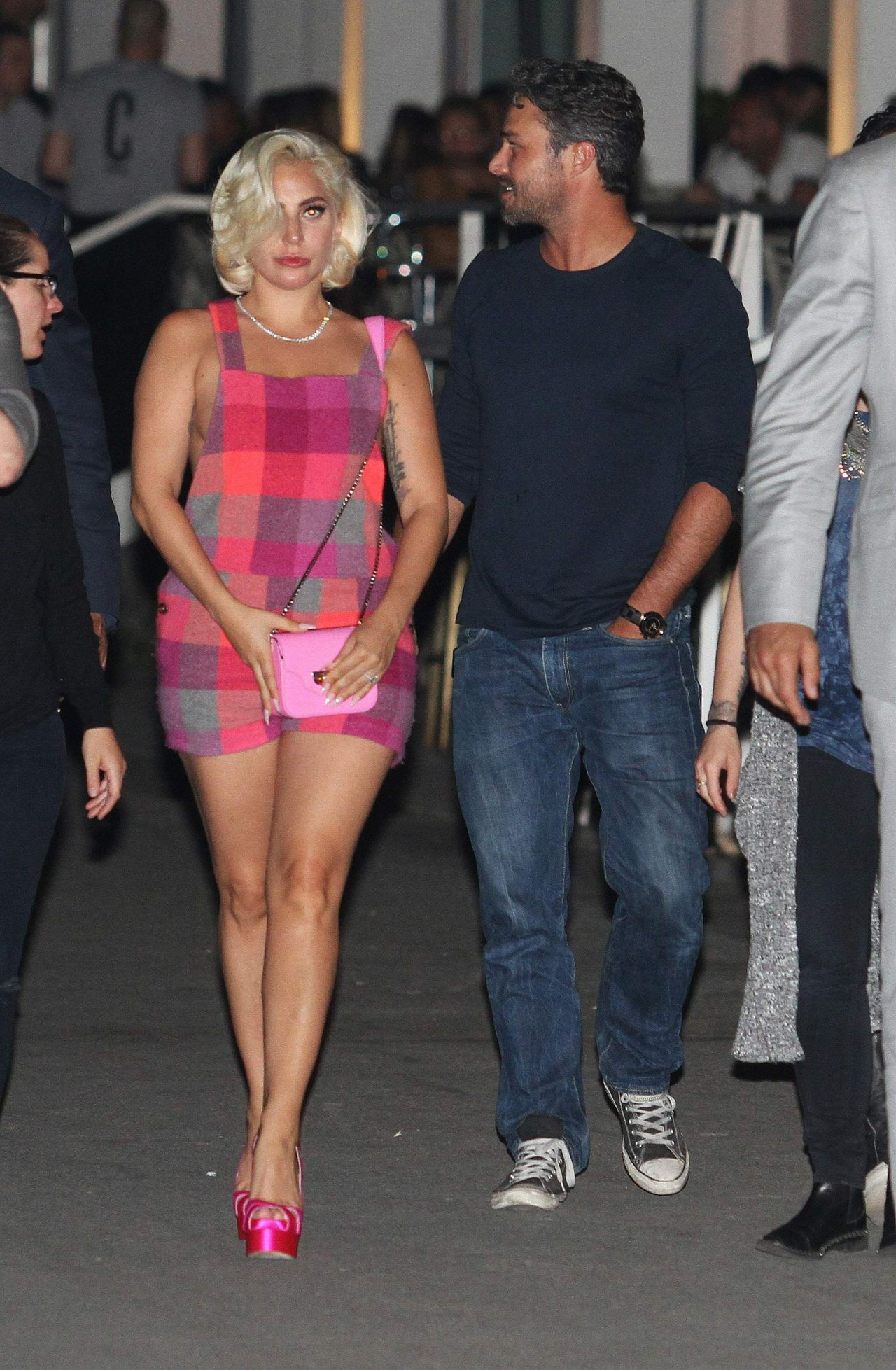Lady Gaga - Visited Her Fiance Actor Taylor Kinney in ...
