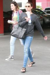 Lea Michele Leaving a Studio in Hollywood, June 2015
