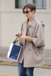 Lily Collins Casual Style - Shopping With Her Mom in Beverly Hills, June 2015
