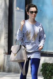 Lily Collins - Leaving CVS Pharmacy in Los Angeles, June 2015