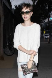 Lily Collins - Santa Monica Boulevard in Los Angeles, June 2015