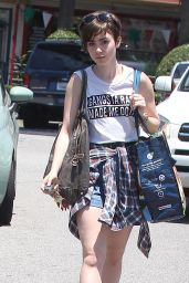 Lily Collins Shopping at Whole Foods in West Hollywood, June 2015