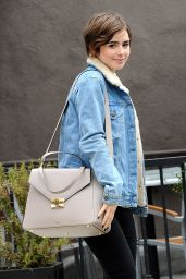 Lily Collins Street Style - Out in LA, June 2015