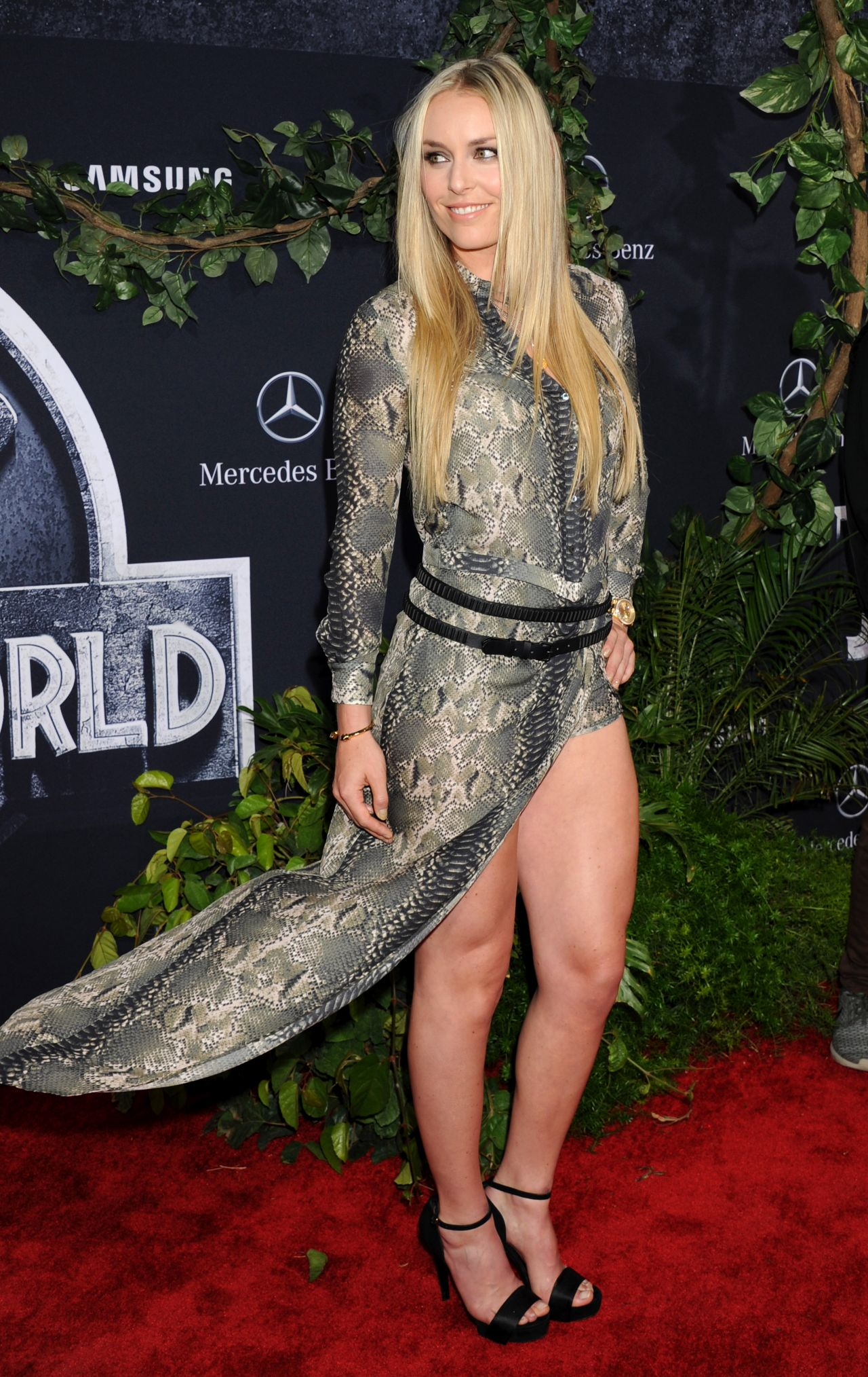 Lindsey Vonn Jurassic World Premiere In Hollywood