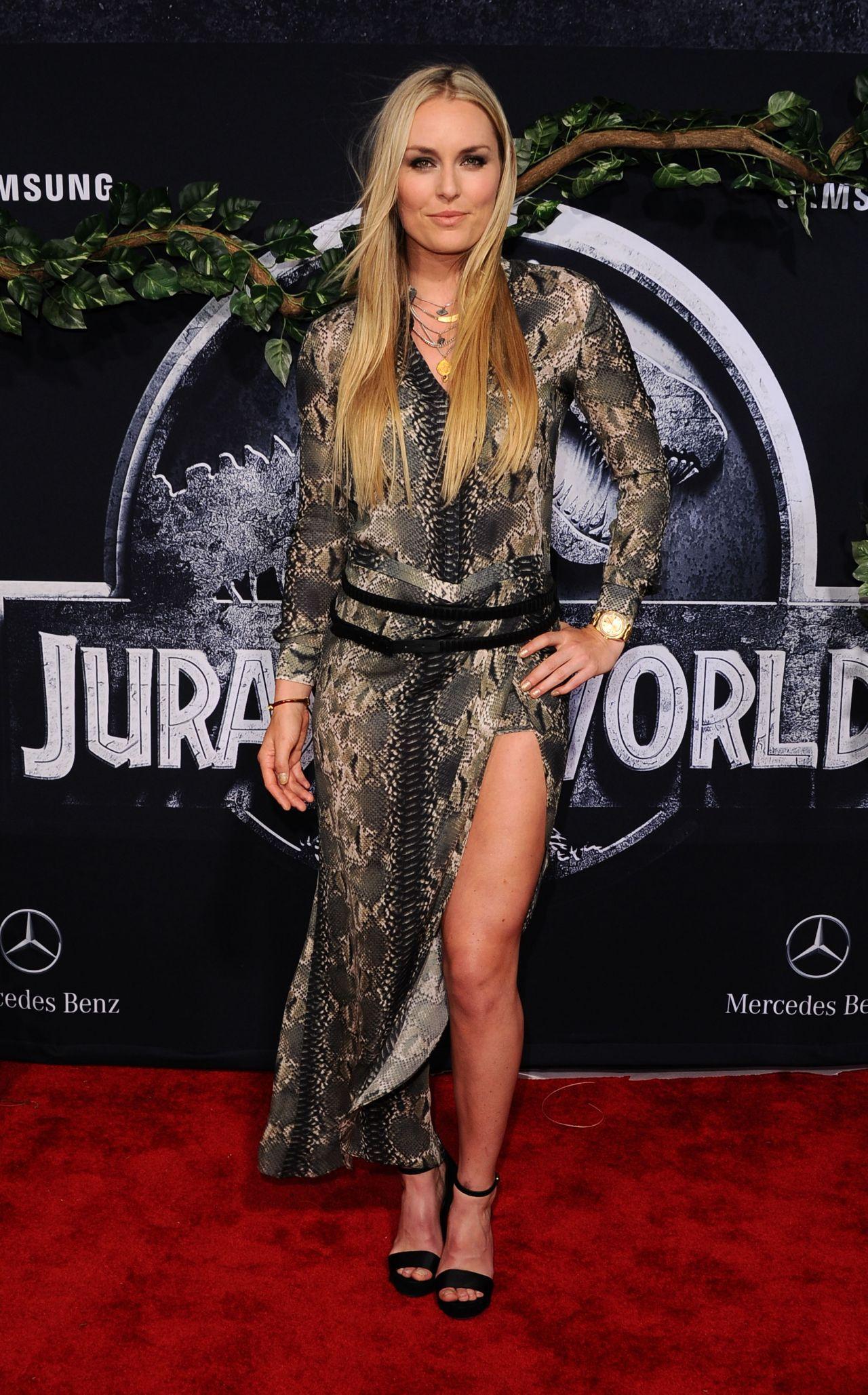 Lindsey Vonn Jurassic World Premiere In Hollywood