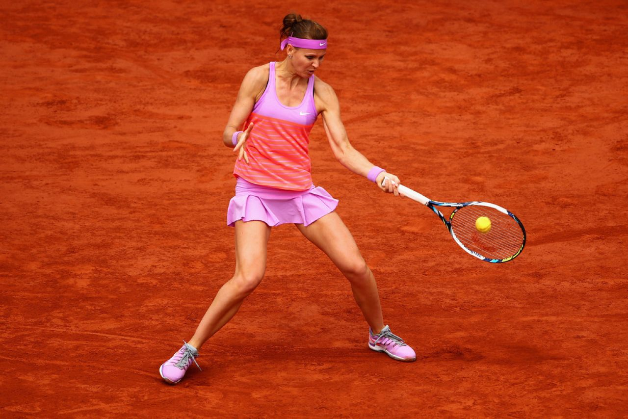 Lucie Safarova  2015 French Tennis Open at Roland Garros - Hairstyles 2014 Fall